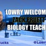 Zack Pruett, new science teacher. /Ron Espinola • The Brand