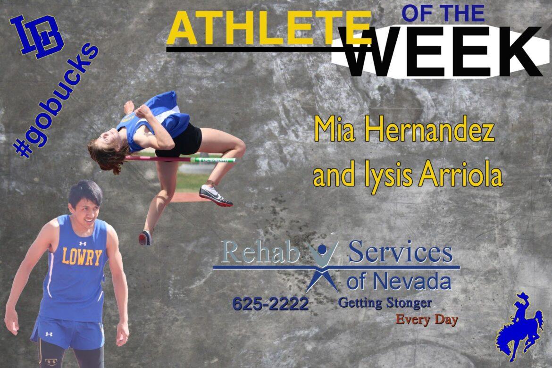 Track stars Mia Hernandez and Iysis Arriola; shooting for greatness.