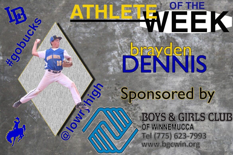 Brayden Dennis announced as Athlete of the Week