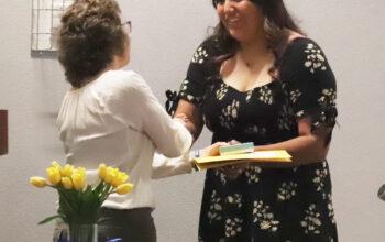 Mackenzie Salas-Begay receiving a scholarship. /Ron Espinola • The Brand