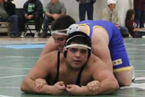Fergi Herrera (Top) tries to turn his opponent. /Courtesy • Tim Grady