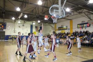 Nate Eldodt puts up a shot against Dayton. /Ron Espinola • The Brand