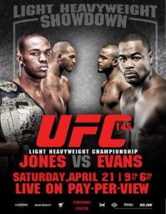 UFC 145 fight card. /Courtesy • facebook.com/UFC/