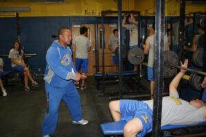 Coach Taua Cabatbat motivates his students to work harder. /Madison Waldie • The Brand
