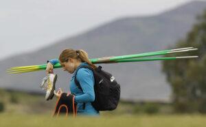 USA Javelin thrower Kara Patterson. /Robert Gauthier • Los Angeles Times/MCT