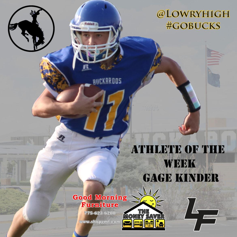 Gage Kinder named Athlete of the Week