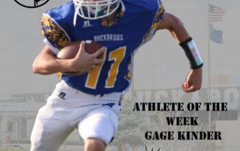 Gage Kinder Athlete of the week