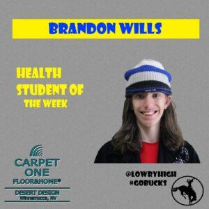 Brandon Wills Student of the Week