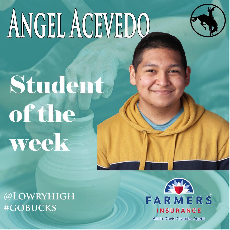 Angel Acevedo is Art Student of the Week