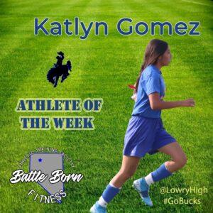 Katlyn Gomez Athlete of the Week